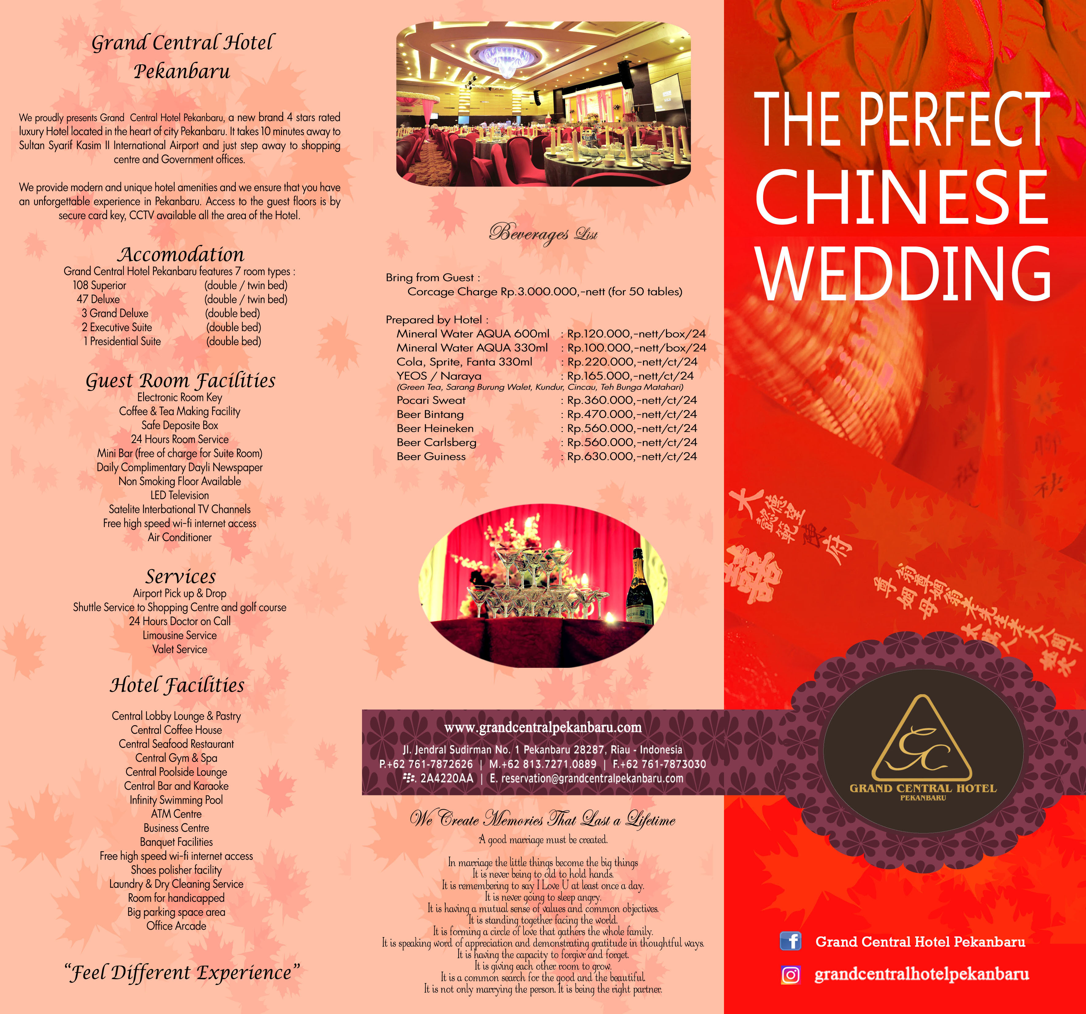 Akomodasi Chinese Wedding Package